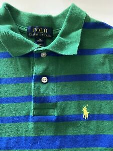 Ralph Lauren Striped polo shirt, short sleeve size boys  10-12 Pre owned