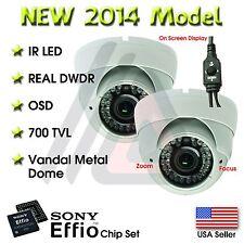 2X VARIFOCAL OUTDOOR DOME 36 IR 1000TVL SECURITY CAMERA CCTV INFRARED