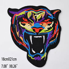 Large Embroidery Rainbow Tiger Sew Iron On Patch Badge Bag Clothes Applique DIY
