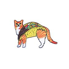 Taco Cat Iron On Patch Cute Funny Gift Clothing Transfer Applique BNWT/NEW