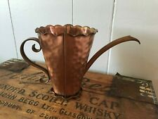 Vtg Gregorian USA Solid Copper Small Hammered Watering Can Pitcher Jug Handled