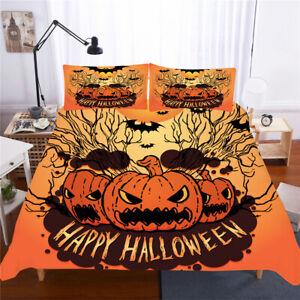 Halloween Pumpkin Twin/Full/Queen/King Size Bed Duvet Cover Set Duvet Covers