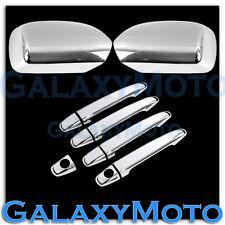 07-10 Toyota Camry Triple Chrome Mirror+4 Door Handle Cover Trim Bezel Set
