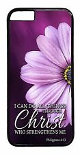 Back Case Cover iPhone 6/6s/Plus/5/5s/5c/4s Christian Quotes Bible Verse Flowers