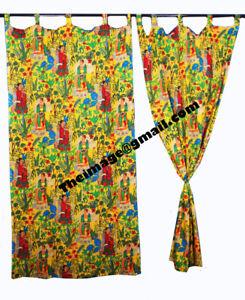 Indian Yellow Frida Khalo Curtain Home Décor, Floral, Rod Pocket Room Curtain AU