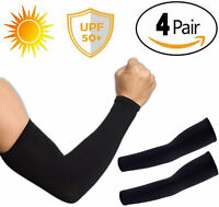4 Pairs Cooling Arm Sleeves Cover Basketball Golf Sport UV Sun Protection Unisex