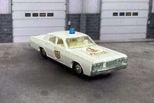 Matchbox Lesney #55 or #73 Mercury Police Car - White w/ Blue Dome