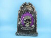 "Gerson 23"" Lighted Halloween Tombstones Yard Decor Scary Skull Skeleton RIP#Z2B4"