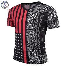 Mr.1991INC Paisley Flores Camiseta Hombres