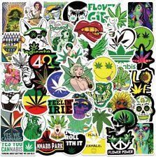100pcs Weed Leaves Stickers Smoking Graffiti for Skateboard Luggage Laptop USA