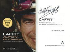 Laffit Pincay Jr. SIGNED AUTOGRAPHED Anatomy of a Winner HC 1st Ed/1st Print