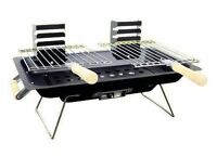 Portable Table Top Camping Fishing Outdoor BBQ Hibachi Barbecue Grill Cooker