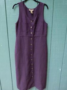 Directives Petites Button Front Long Jumper Deep Purple sz M Tencil Lycocell