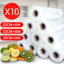 Vacuum Food Sealer Rolls Saver Bag Seal Storage Commercial Heat Grade 6MX20-28cm