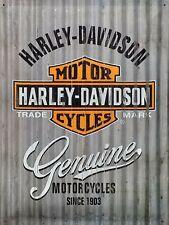 PLAQUE METAL vintage HARLEY DAVIDSON genuine - 40 x 30 cm