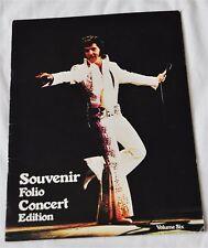 ELVIS PRESLEY - Souvenir Folio Concert Edition Tour Book  Vol 6