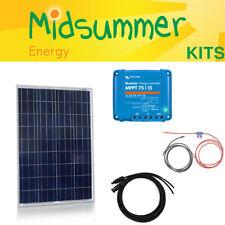 Midsummer 150W polycrystalline MPPT solar charging kit - narrowboats, motorhomes