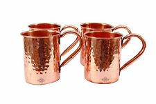 Set of 4 Pure Copper Moscow Mule Hammered Mug 16 oz Cup Restaurant Ware Bar Beer