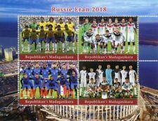 Madagascar Football Sports Postal Stamps