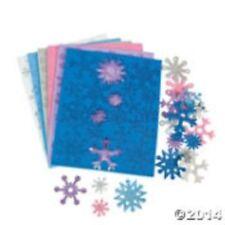 Brillo Copos De Nieve Espuma Formas (paquete de 70)