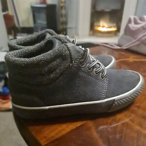 Boys next Boots Size 10 Grey Suede