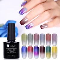 7.5ml Soak Off UV Gel Nagellack Ultra-dünn Glitzer Farbwechsel Varnish UR SUGAR