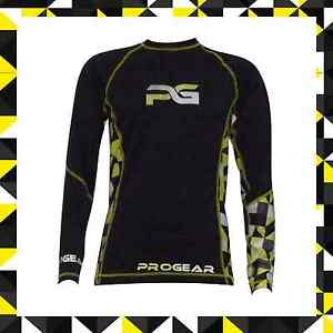 PULSE BMX MTB MOUNTAIN BIKE BASE LAYER - PULSE PROGEAR ULTRA LITE YELLOW & BLACK