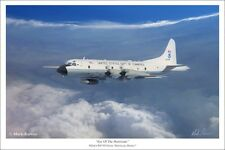 """Eye of the Hurricane"" Mark Karvon 24"" Print - WP-3D Orion, ""Hurricane Hunter"""