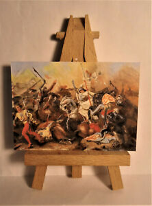 Joan of Arc in the Battle ACEO Original PAINTING by Ray Dicken a August Lasinsky