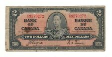 Canada 1937 $2 Bank of Canada Banknote K/R