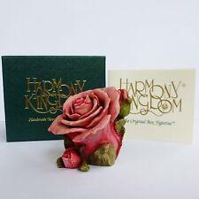 Harmony Kingdom Box Figurine - Single Pink Rose - Harmony Garden - HGLEPR