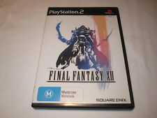 Final Fantasy XII (Playstation PS2 PAL Import) Black Label Game Complete Nr Mint