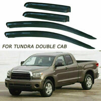 For 07-18 Toyota Tundra Double Cab Side Window Visor Vent Rain Deflector Guard