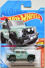HOT WHEELS 2018 HW HOT TRUCKS '15 LAND ROVER DEFENDER DOUBLE CAB #7/10 TURQUOISE