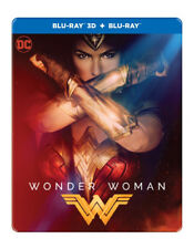 Wonder Woman (Blu-ray 3D + Blu-ray) (STEELBOOK) (ALL) (NEW) (2017)