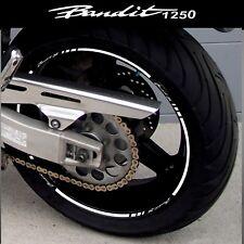 LISERETS JANTES MOTO BANDIT 1250 BANDIT S STICKERS kit pour 2 jantes 40 couleurs