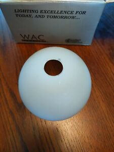 WAC Lighting PD-G301 Dome Glass Pendant Replacement Shade Frosted White Open Box
