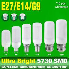7/9/12/15/20/25W LED Corn Bulbs G9/E27/E14 Cool/Warm White 110/220V Lamps x10 D