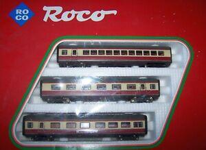Roco 14070 A - H0 HO  - 3-teiliges Wagen-Ergänzungs-Set BR VT 11.5 (VT 601) TEE