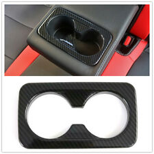 For Kia Seltos 19-2020 Black Rear Seat Water Cup Holder Frame Sticker Cover Trim