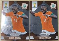 2014 Panini Prizm World Cup Didier Drogba Rookie Card RC #60 Soccer