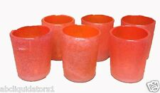 New! Set of 6 Stunning Mexican Hand Blown Tumbler- Scarlet Bubble Glasses