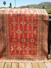 "1890-1900 Antique Caucasian Very Fine Rug 6'5"" X 3'8"" Amazing Color"