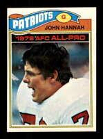 1977 Topps #460 John Hannah NM/NM+ Patriots 505456