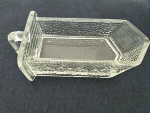Antique Glass Poncet Pour Spice Scoop For Hoosier Cabinet 5 Ounces Small Flaw