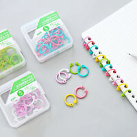 Circle Keychain Hinged Binder Loose Leaf Ring Easy Ring Scrapbook Clips