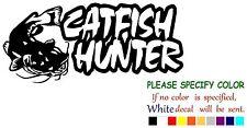 "Catfish Hunter Fishing Decal Sticker JDM Funny Vinyl Car Truck Window Bumper 7"""