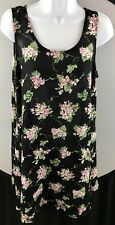Express Women Size Large Floral Pattern Scoop Neck Pre owned Knee Length Dress