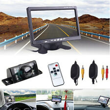 "7"" LCD Rear view Monitor+Wireless Reverse Backup Camera Night Vision For Car SUV"
