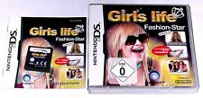 "Nintendo DS JEU ""Girls Life-fashion star"" COMPLET/fille Mode"
